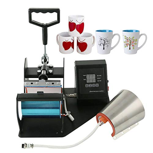 Tengchang 2 in 1 Cone Coffee Mug Cup Sublimation Heat Press Transfer Machine DIY Printer