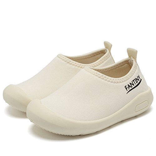 CIOR Kids Slip-on Casual Mesh Sneakers Aqua Water Breathable Shoes For Running Pool Beach (Toddler/Little Kid) SC1600 White 20 3