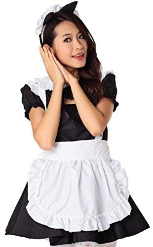 MJP Maid Waitress Anime Cosplay [size S / sexy Dress Apron ] Akihabara Halloween