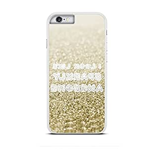 "Funda carcasa para iPhone 6S diseño ilustración para selfie ""i look like sparkly awesome"" borde blanco"