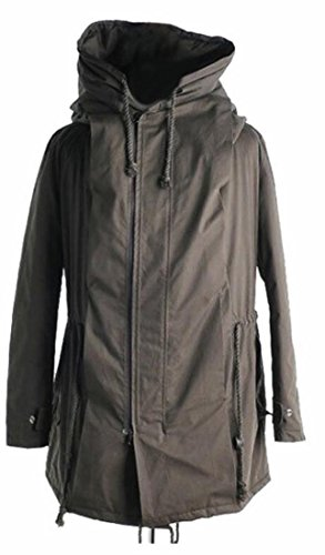 today-UK Mens Drawstring Hoodie Padded Parka Jackets Coats Outwear 1