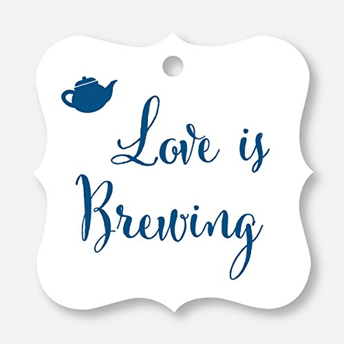 24 ct Love Is Brewing Wedding Favor Tags, Beer, Teapot, Coffee Cup (FS-096-NV) (Cookie Jar Teapot)