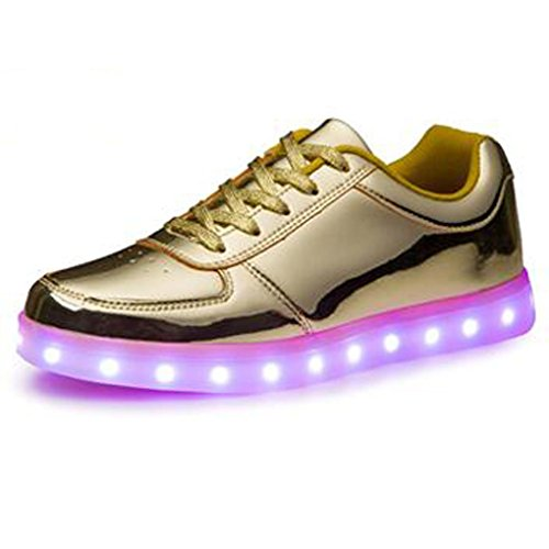 LED USB Women Present Charging small Shoes JUNGLEST golden towel Odema q04XH0