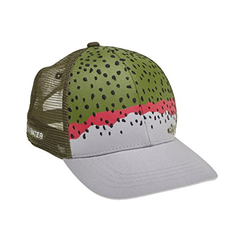 Rep Your Water Mesh Back Hat-Rainbow Trout Skin-One Size (Rainbow Mesh Cap)