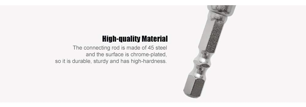 ArtisanShow Power Hand Tools Sockets Adapter Sets Nut Drive for Drills Ratchet Extension Cordless Impact Wrench,3Pcs 1//4 3//8 1//2Cr-V Hex Shank Bit Square Set New,Cordless Impact Grade Socket