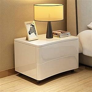 Rowe Simple Européen Moderne Blanc Armoire de Chevet Chambre Chevet Peinture Cabinet Chambre Cabinet en Bois Massif…