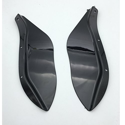 Amazicha Upper Fairing Side Wing Windshield Air Deflectors Black for Harley Touring 1996-2013