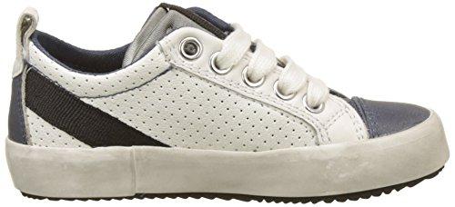 Geox J Alonisso B, Zapatillas Para Niños Blanco (White/navy)