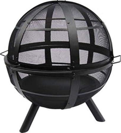 Amazon Com Landmann Usa 28925 Ball Of Fire Outdoor Fireplace Black Fire Pit Garden Outdoor