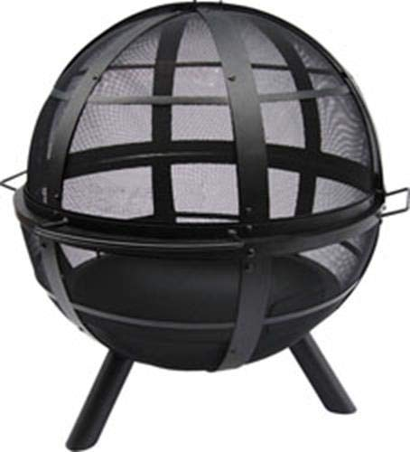 Landmann USA 28925 Ball of Fire Outdoor Fireplace, Black - Make sure this fits                by entering your model number. Outdoor fireplace with spherical spark screen Unobstructed 360-degree view of the fire - patio, outdoor-decor, fire-pits-outdoor-fireplaces - 41T16d101HL -