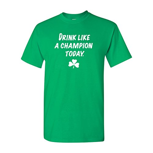 Strange Cargo Men's Drink Like A Champion Today Funny St Patrick's Day Irish Tshirt L Kelly
