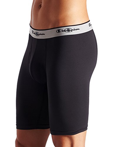 Champion Men's Tech Performance Long Boxer Brief, Black, Small (Power Cool Champion compare prices)