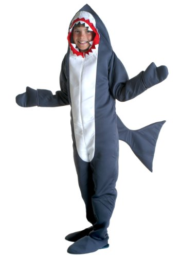 Boys Shark Costumes (Big Boys' Shark Costume Large)