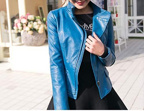 Moda Howme donne Blu Di In Cappotto Pelle Giacca Grandi Dimensioni Parka Outwear r7wzHr