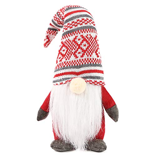 1Tomte Swedish Plush Santa Gnome, Handmade Scandinavian Tomte Santa Scandinavian Gnome for Christmas Santa Decoration Table Decor.
