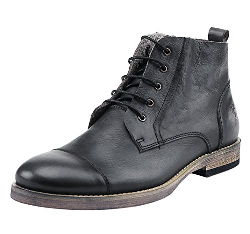 Chukka 11 Black Insun Laces Leather Men's Boots fw04R