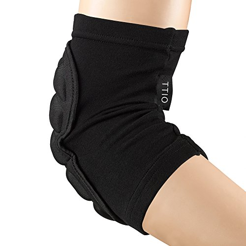 Elbow Sleeve Lightweight Cotton (TTIO Elbow Pads- Breathable Protective Soft Lightweight Padded Sleeve Elbow for Skiing Skating Snowboarding Unisex)