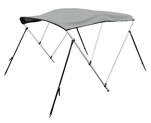 "Bimini Top Boat Cover 54"" H X 79""-84"" W 6' Long 3 Bow Gray"