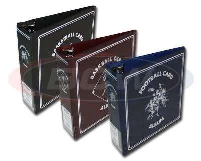 BCW TRADING CARD ALBUM 3 INCH BURGUNDY COLOR