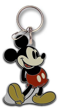 Plasticolor 004124R01 Mickey Mouse Vintage Disney Enamel Keychain