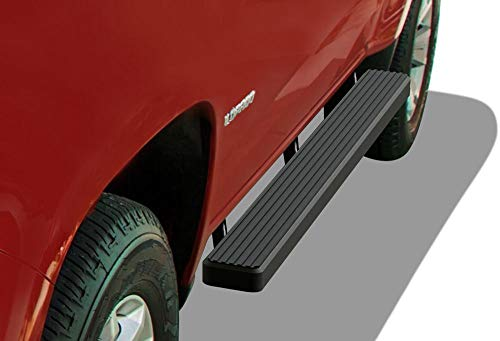 (APS iBoard (Black Powder Coated 4 inches) Running Boards | Nerf Bars | Side Steps | Step Rails for 2015-2019 Chevy Colorado/GMC Canyon Crew Cab Pickup 4-Door)