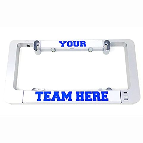 LumiSign - The Custom Color License Plate Frame that Lights Up Automatically / Installs In Seconds / No Wires / One Frame, Endless Possibilities with Interchangeable Inserts (Custom - Frame One Light