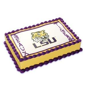NCAA LSU ~ Edible Cake Image Topper