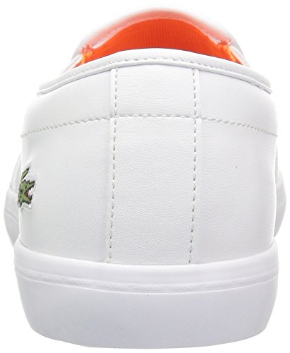 Lacoste Women's Gazon Slip-Ons 118 2 Caw, White/Fluro Org Leather, 7 M US