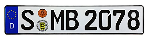 Audi Ingolstadt Rear German License Plate AÜ by Z Plates with Unique Number NEW