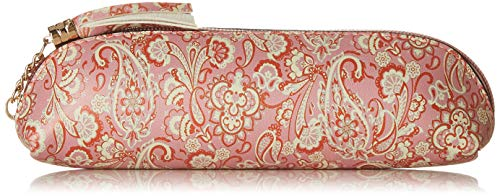 MAX Women's Printed Zip Closure Cosmetic Pouch