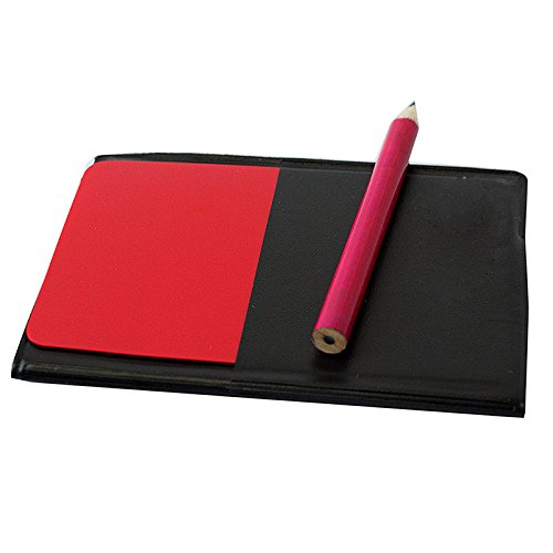 unihandbag store Ordinary Soccer Referee Red Card and Yellow Card Pencil Notebook
