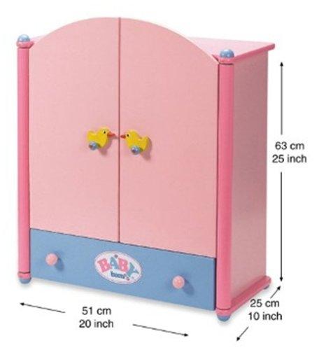 baby born 800508 holzkleiderschrank amazonde spielzeug
