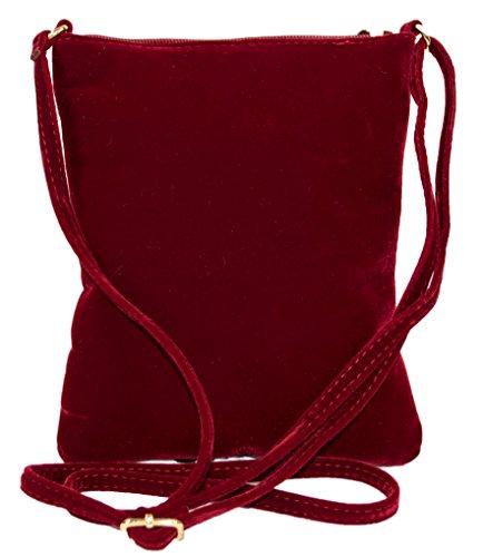 Bag Party Velvet Style Vintage Strap Crossbody with Shoulder Wine Small Purse qtwItRU5