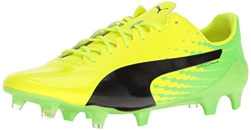 Mens Puma Evospeed 17 Sl S Fg Calcio Sicurezza Scarpa Giallo-puma Gecko Nero-verde