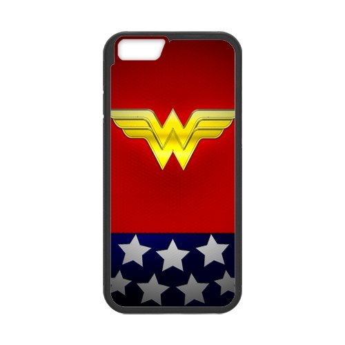 Fayruz- Personalized Protective Hard Textured Rubber Coated Cell Phone Case Cover Compatible with iPhone 6 & iPhone 6S - Wonder Woman F-i5G1182