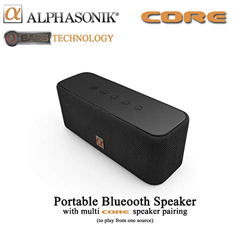 For Sale! Alphasonik CORE Home Wireless Bluetooth Portable Speaker with HD Sound and Bass, Built-in ...
