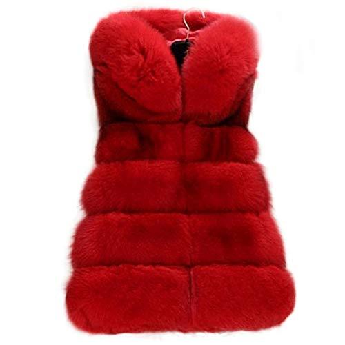 Manka Vesa Faux Fur Vest Women's Winter Warm Coat Sleeveless Fluffy Waistcoat Jacket Outwear