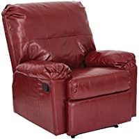 Office Star Kensington Bonded Leather Recliner, Merlot