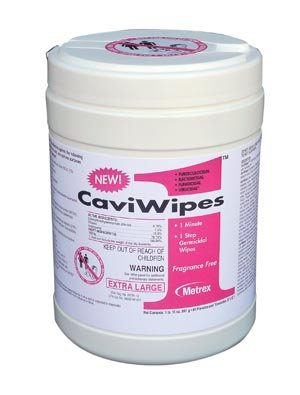 Metrex Caviwipes1 Surface Disinfectant, 9'' x 12'', 65 ct/can 13-5150