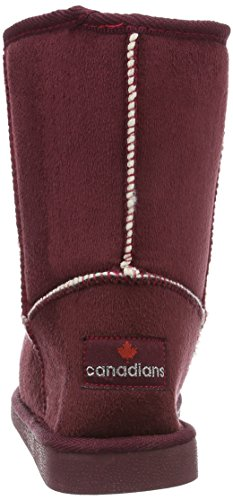 Canadians Boots, Botines para Mujer Rojo - Rot (840 BORDEAUX)