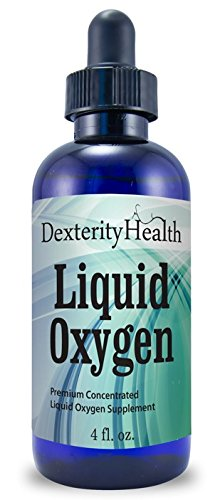 Liquid Oxygen Drops, Stabilized Oxygen Drops, Premium Concentrated, Vitamin O, Liquid Oxygen Supplement, 4 Ounces