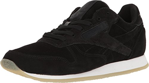 Reebok Classic Leather Crepe Neutral Pop Black/White 9 (Reebok Classic Leather Lux Cf Light Snuff Black)