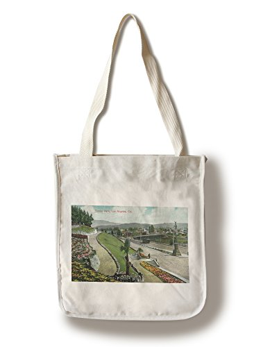 Lantern Press Los Angeles, California - Scenic View in Elysian Park (100% Cotton Tote Bag - Reusable)