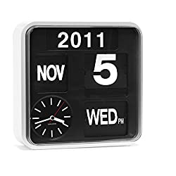 Karlsson Mini Flip Black Dial Casing Wall Clock White