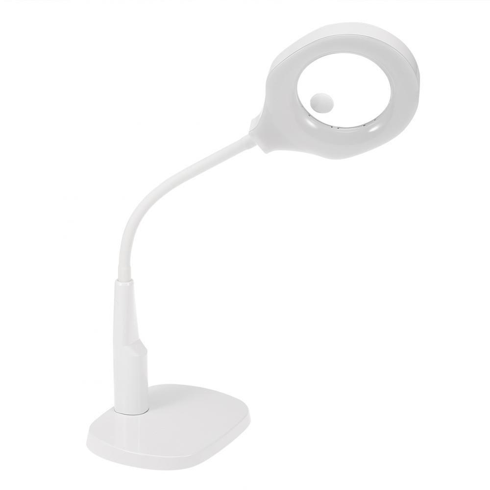 5x 12x LED Lampe Loupe avec Pince de Table Loupe Cosmétiques Tatouage Manucure pour le Salon de Beauté Pratiques Aider à la Lecture Brino