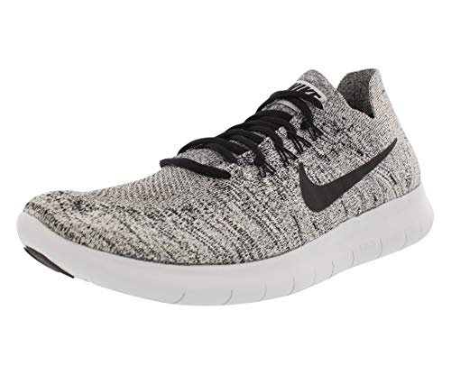 Nike Mens Free RN Flyknit 2017 Running Shoes White/Black-Stealth-Pure Platinum 880843-101 Size 10