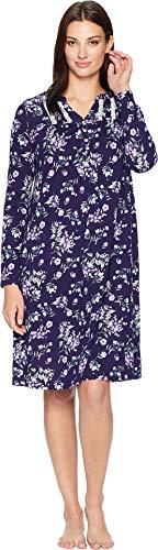 Carole Hochman Women's Navy Floral Waltz Caftan, M
