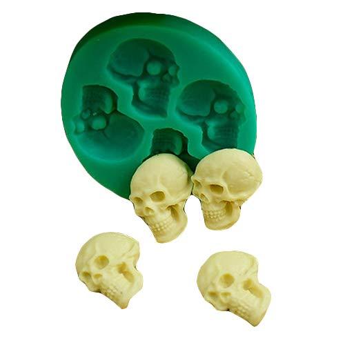Slendima Creative Food-grade Silicone 3D Skull Head Silicone