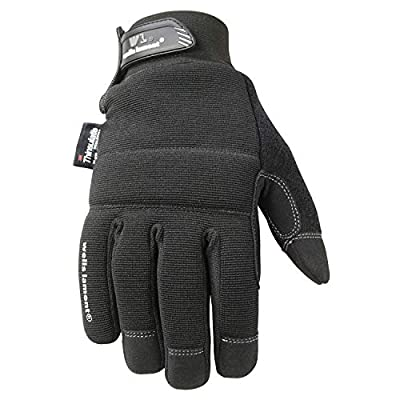 Wells Lamont Men's Multi-Purpose Cold Weather Synthetic Leather Glove Spandex Back 80G Thinsulate Insulation
