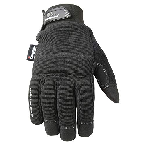 Hatch Black Winter Glove - Wells Lamont Touchscreen Winter Gloves with Thinsulate Insulation, Large (7760L)